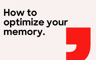 How to optimize your memory